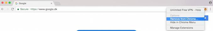 Sådan fjerne du Hola VPN