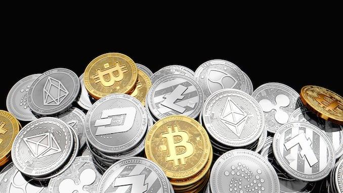 Samling af krypto valutaer