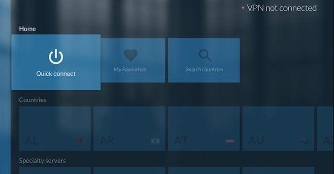 NordVPN på en Android TV Box